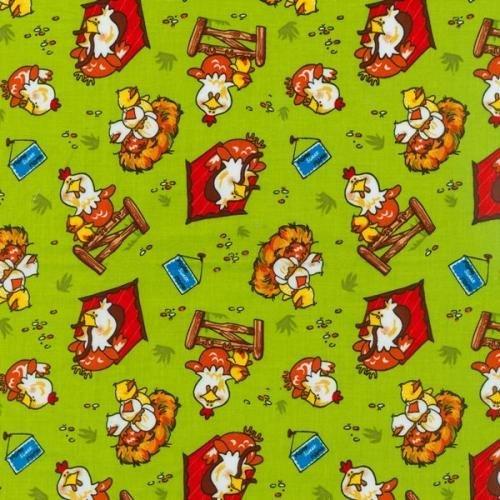 Animal Farm Green w/ Chickens BTR6955 Green