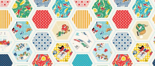 60972 2 Hexi All Over Pattern