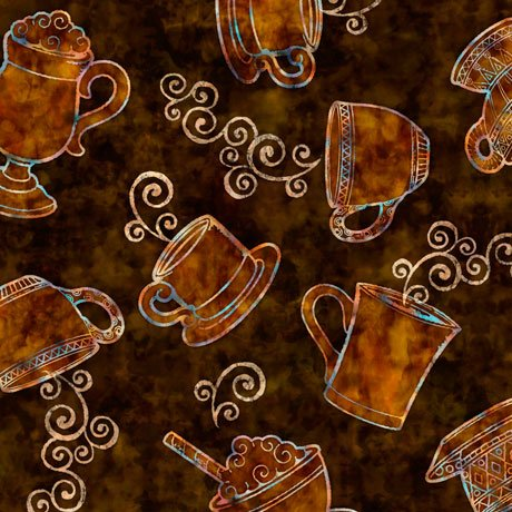 27074A Tossed Coffee Cups - Brown