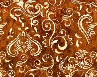 24695 -A Inlay Scroll Dark Sienna