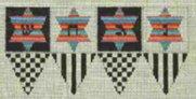 Checkered Dreidel ~ Tapestry Fair
