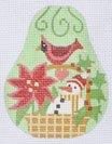 Christmas Pears Club ~ Snowman in a Basket ~ CH Designs