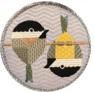 Scott Partridge Silly Little Birds Club ~ Tipsy Chickadees ~ Vallerie Needlepoint Gallery