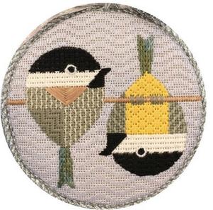 Scott Partridge Silly Little Birds Club ~ Tipsy Chickadees ~ Vallerie Needlepoint Gallery
