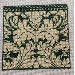 Eye Glass Case ~ Royal Damask in Green ~ Whimsy & Grace