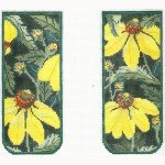 Eye Glass Case ~ Yellow Echinacea ~ Whimsy & Grace