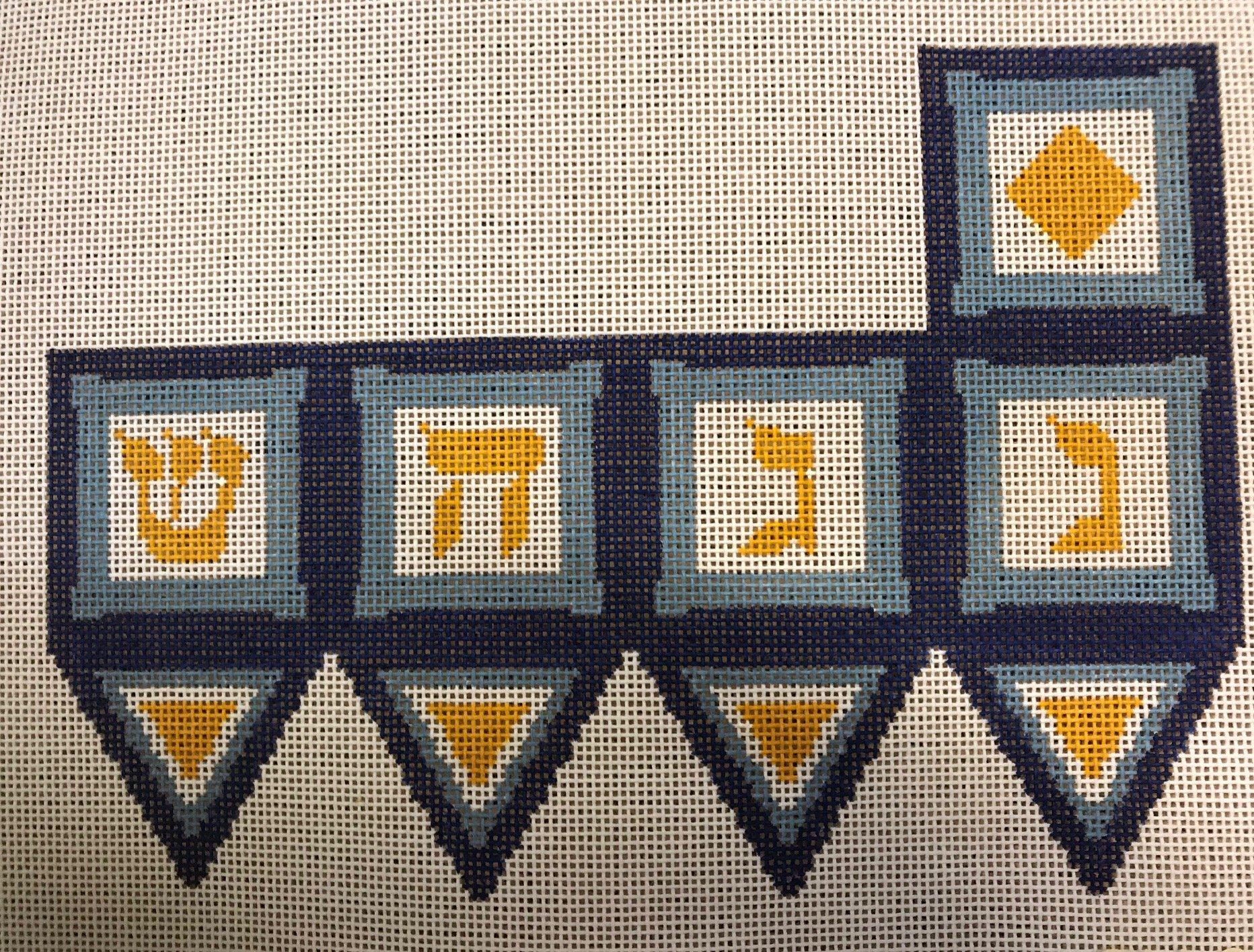 Blue Dreidel ~ Gone Stitching