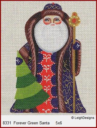 Leigh Forever Green Santa
