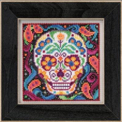 Sugar Skull ~ Autumn Buttons & Beads