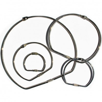 Silver Screw Lock Binding Rings