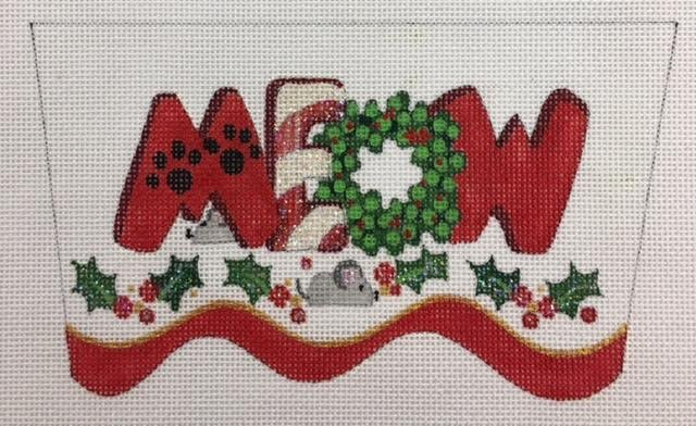 meow strictly christmas - Strictly Christmas Needlepoint