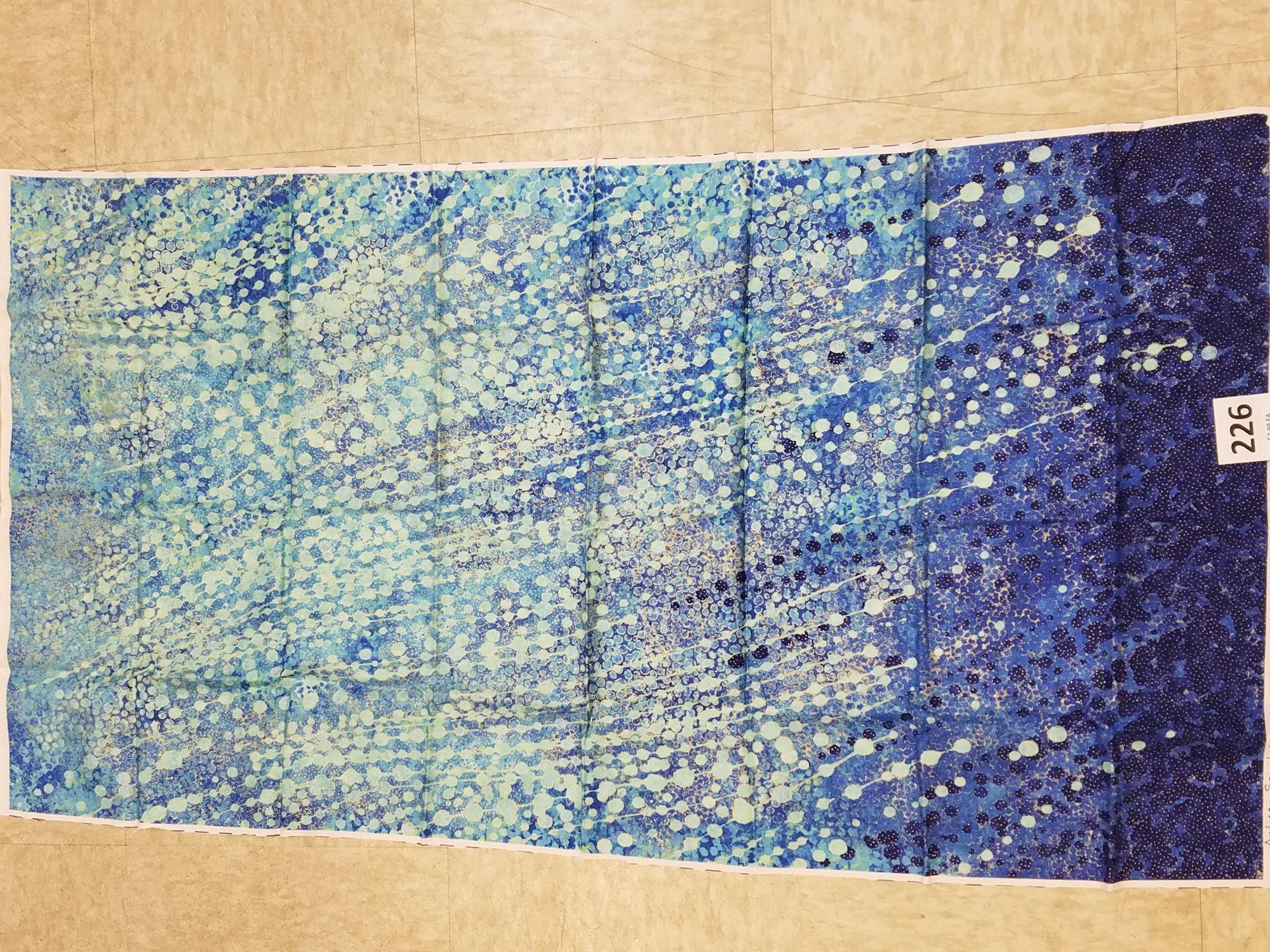 Panel 226 shimmer echos blue