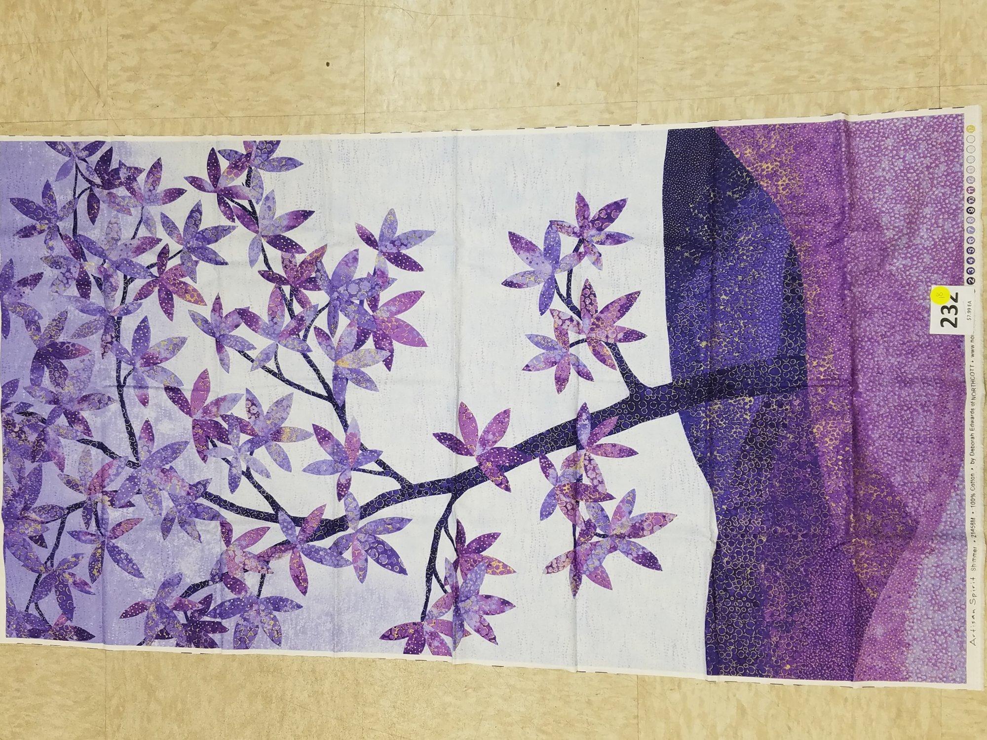 panel 232 shimmer echos purple tree