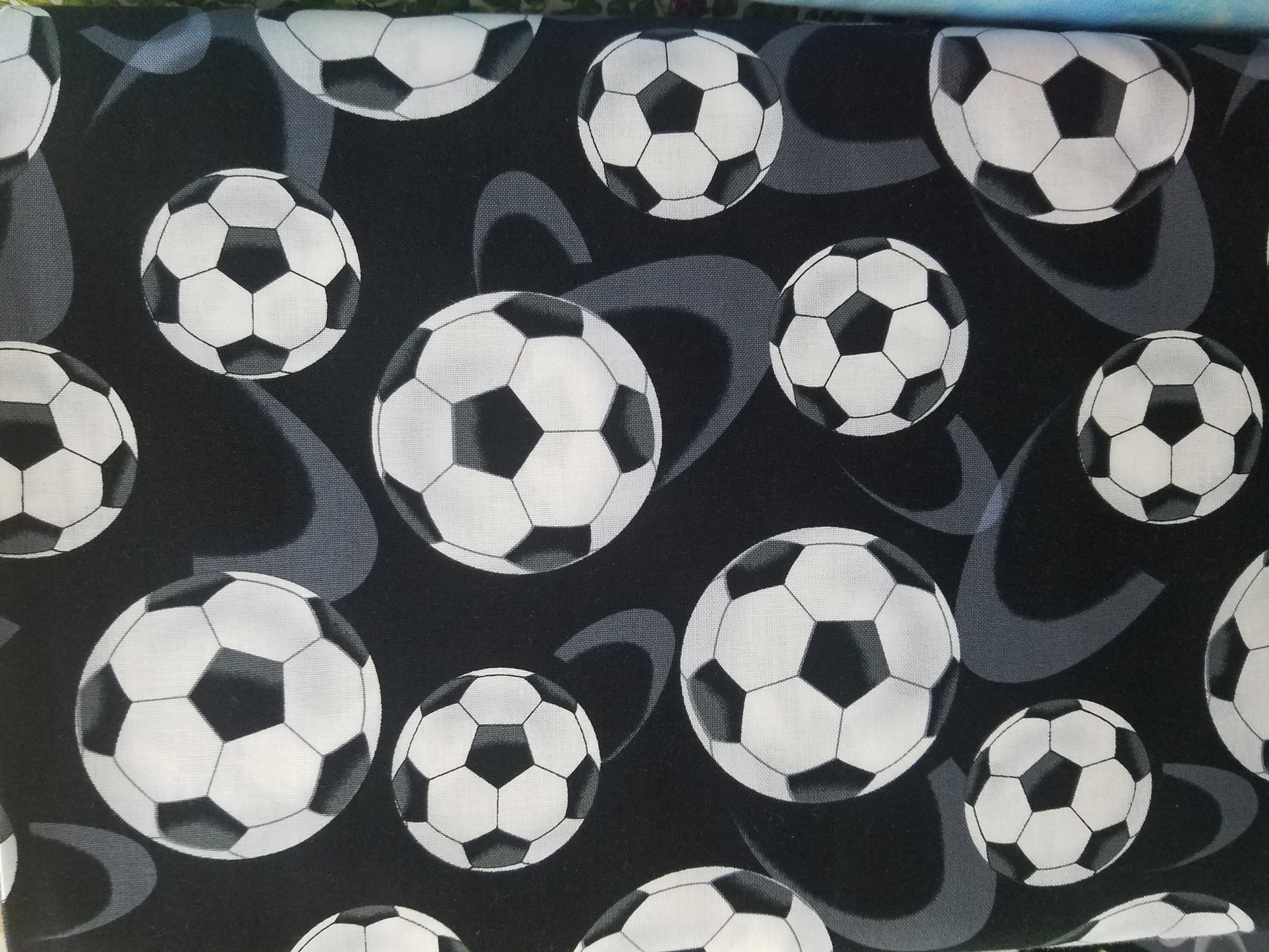 Black Large Tossed Soccer Balls