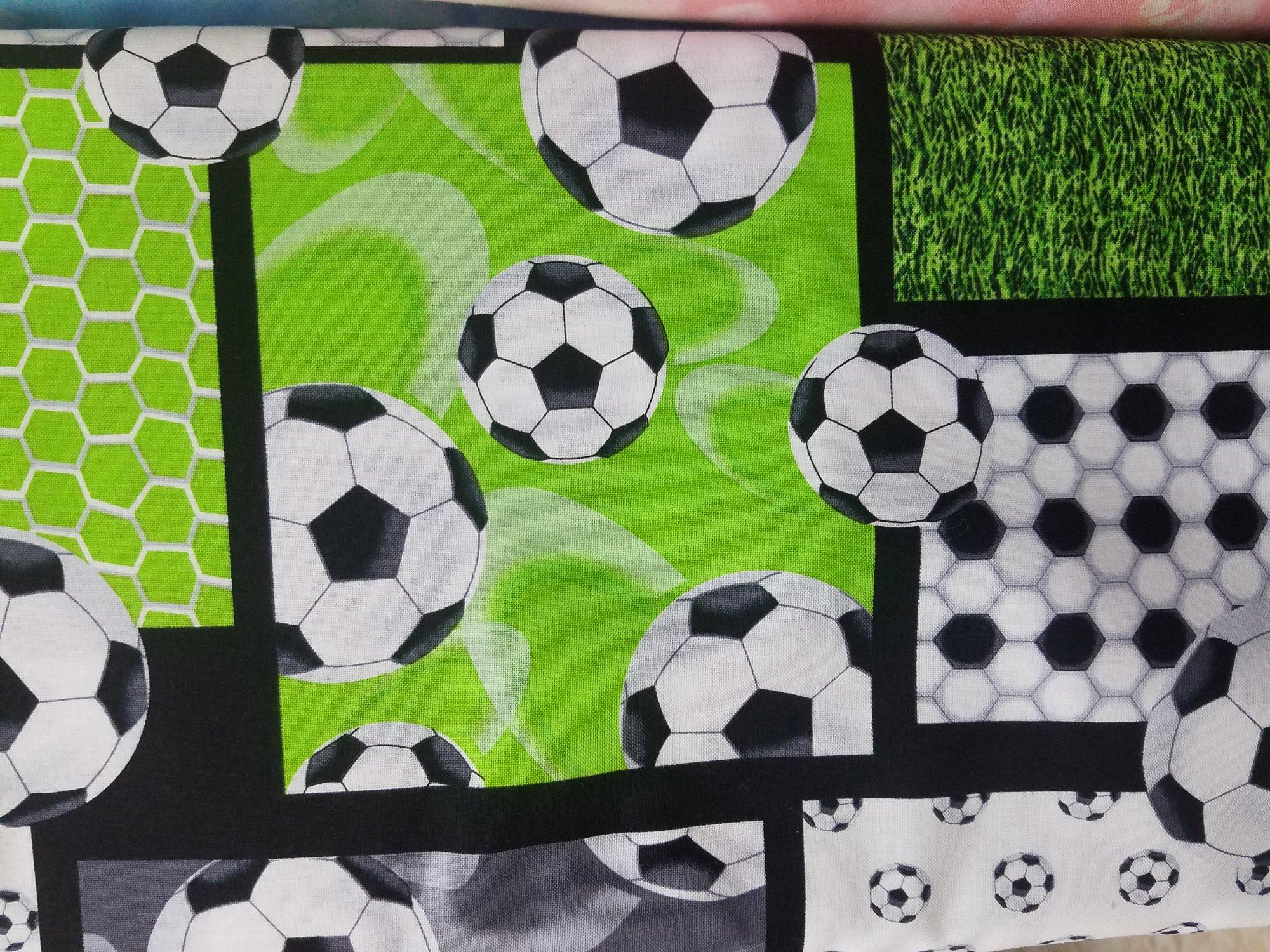 Black/Green Soccer Patchwork