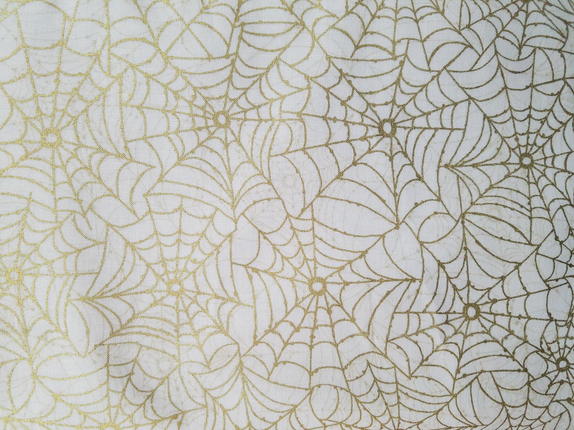 Cream Spider Web w/Metallic