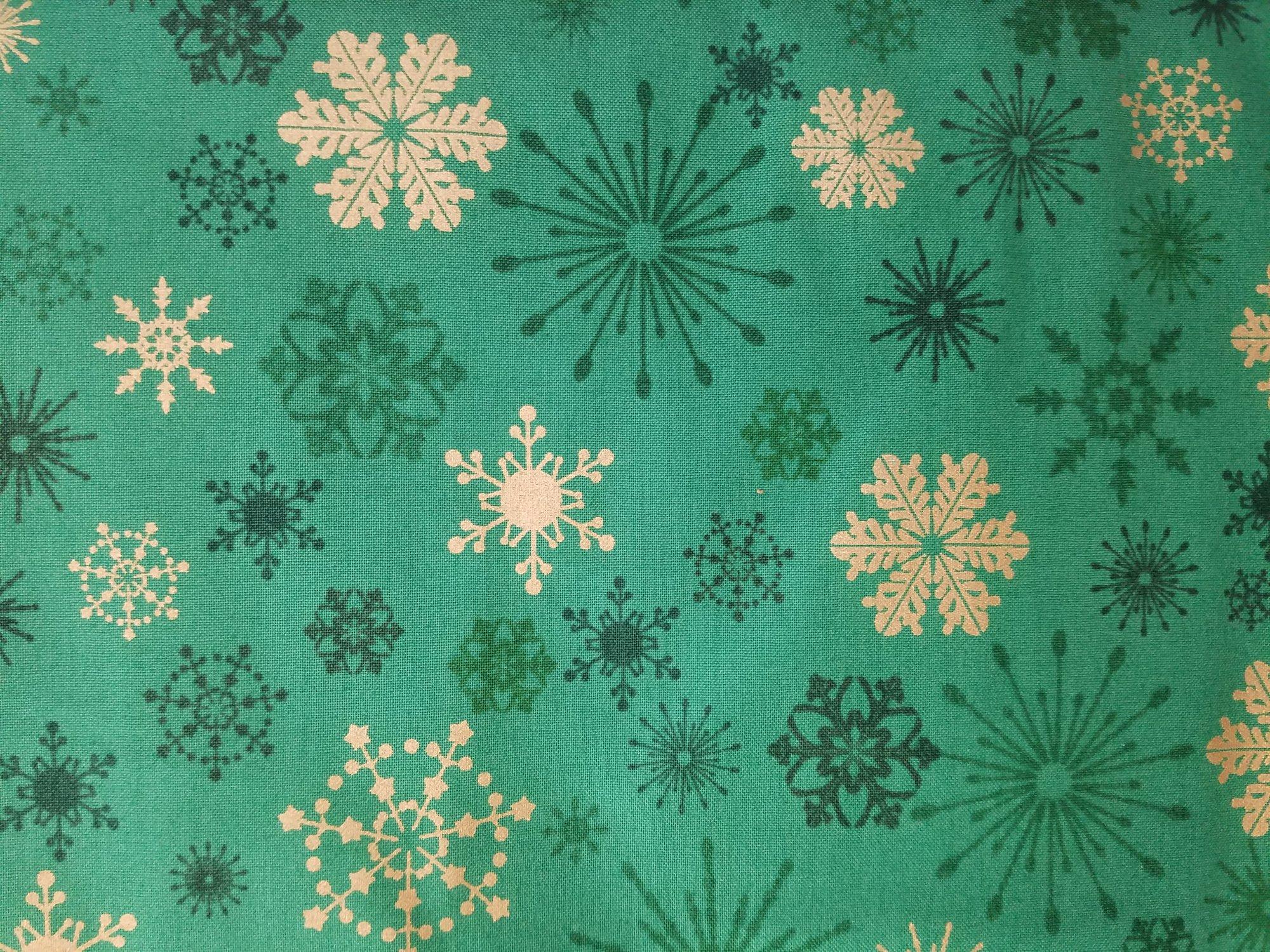 Season's Greetings SnowFlake Green