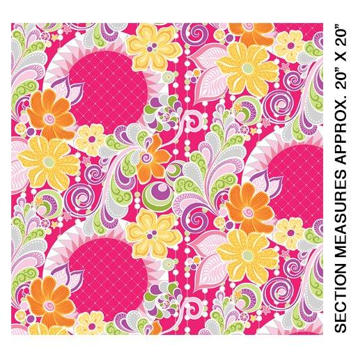 Benartex Free Motion Fantasy, pink, 05440-02