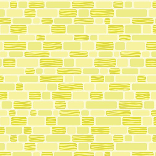 Benartex Free Motion Fantasy, Bricks Lime, 05442-42