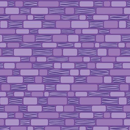 Benartex Free Motion Fantasy, Bricks Purple, 05442-60