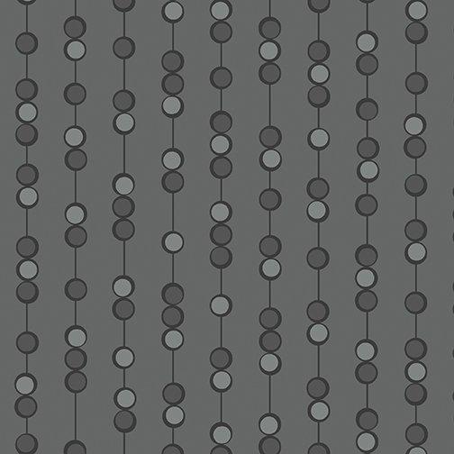 Benartex Free Motion Fantasy, On a String, Gray, 05443-08