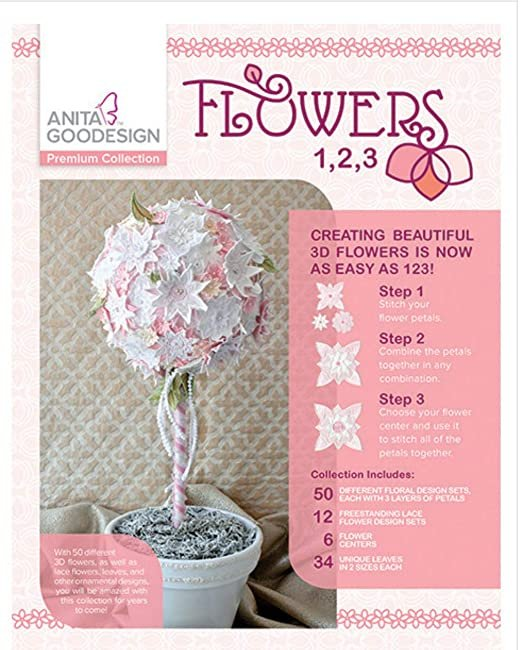 Anita Gooddesign Flowers 1, 2, 3