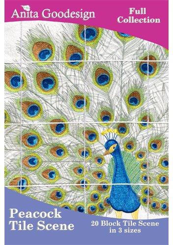 Peacock Tile Scene