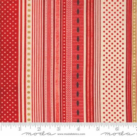 Berry Merry Scarlet Ribbon Stripe 30473 12 by BasicGrey for Moda