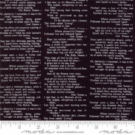 Eerily Elegant Midnight Black Treacherous Type 19811 11 by Deb Strain for Moda