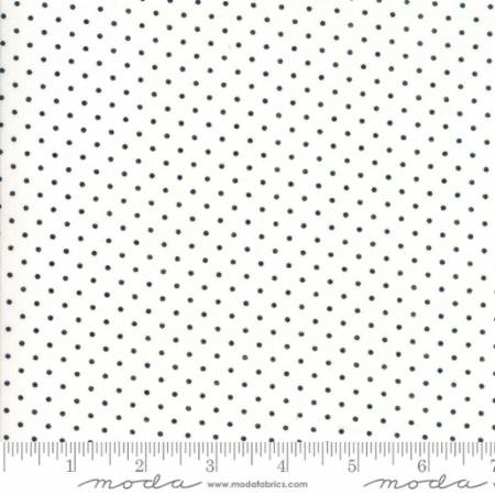 Essentially Yours White Black Pin Dot 8654 57 by Moda