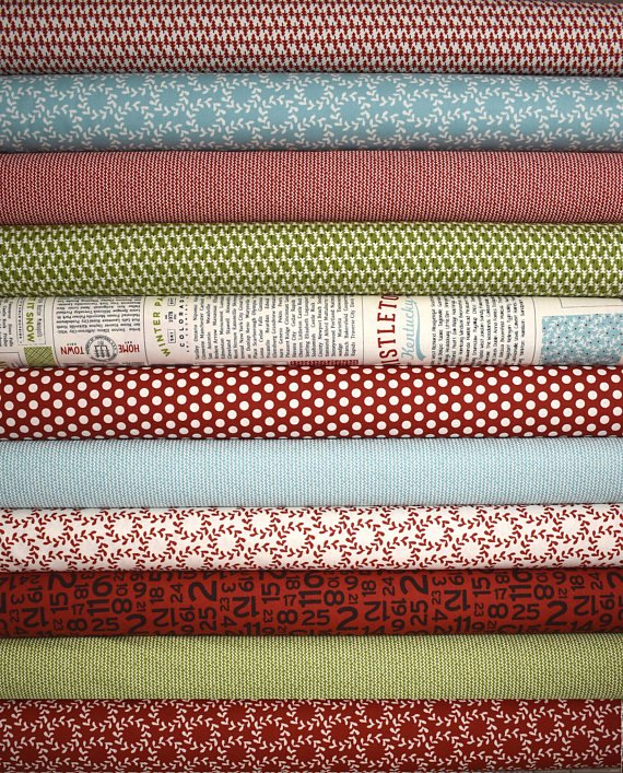 Hometown Christmas Fat Quarter Bundle of 11 by Sweetwater for Moda