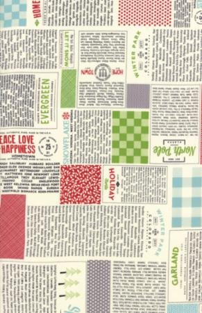 Hometown Christmas Multi News 5660 11 by Sweetwater for Moda