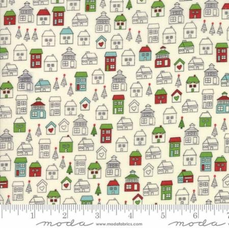 Hometown Christmas Vanilla Winter Park 5661 14 Moda by Sweetwater for Moda