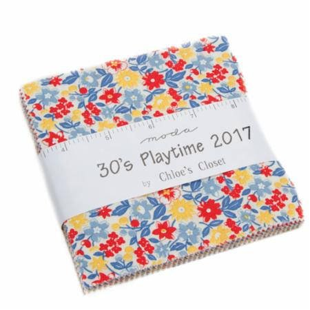 30s Playtime 2017 Charm Pack 33210PP by Chloe's Closet for Moda
