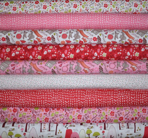 Just Another Walk in the Woods Fat Quarter Bundle of 9 by Stacy Iset Hsu for Moda