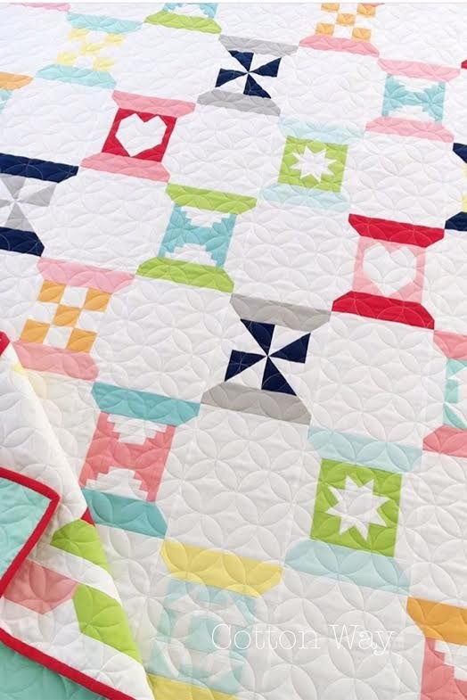 Spool Sampler Quilt Kit with Bella Solids designed by Bonnie Olaveson of Cotton Way
