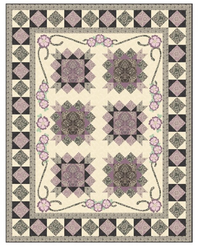 LAST ONE Violet's Quilt Kit with The Dowager's Collection