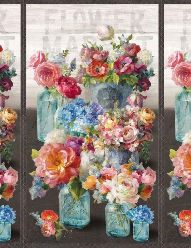 Flower Market by Danjui Nai Panel