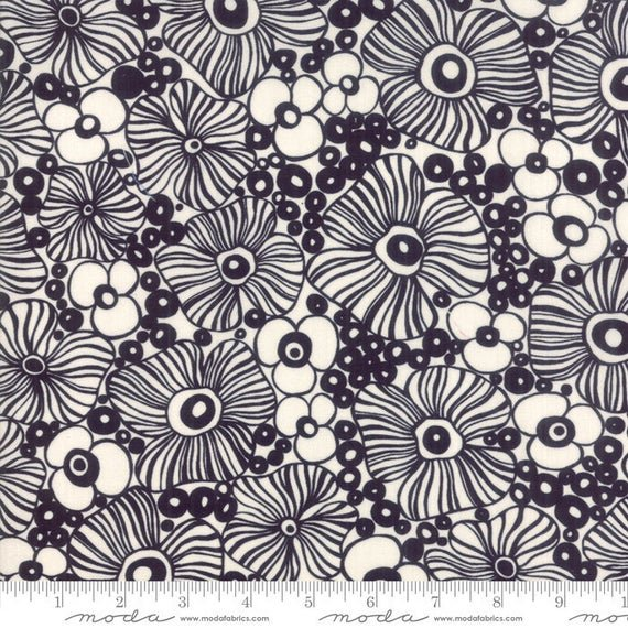 Botanica Mariposa Black 11842 15 Crystal Manning for Moda