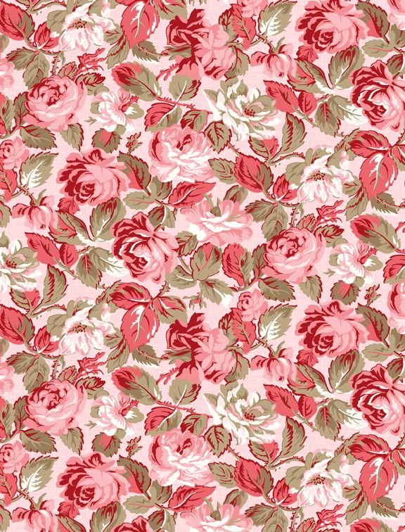 Rhapsody in Reds by Kaye England Tonal Floral Lt Pink