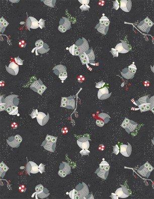 Winter Gnomes by Debbie Mumm Animal Toss Black