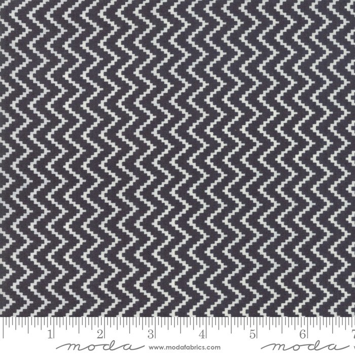 All Hallows Eve Midnight 20353 13 by Fig Tree Quilts for Moda Halloween Zigzag Black