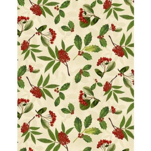 Festive Forest by Anne Rowan Holly & Berries Cream