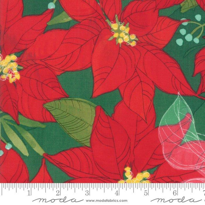 Splendid Pine Poinsettias by Robin Pickens 48650 14 Moda