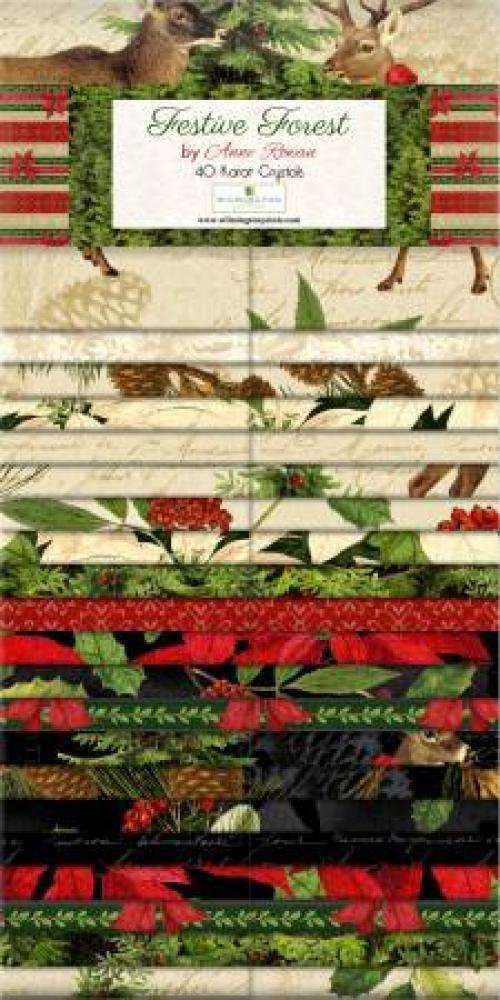 Festive Forest by Anne Rowan 40 Karat Crystals 2.5 Strips Precuts