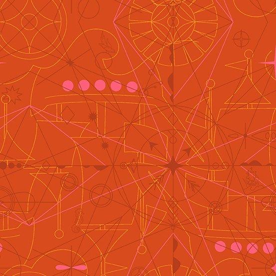 A-8673-O Marmalade Compass SUN PRINT 2018