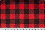 Buffalo Check Cuddle-Scarlet/Black 58/60 100% Polyester