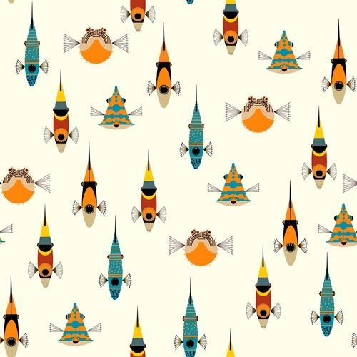 Tropical Fish by Charlie Harper for Birch Fabrics CH-38