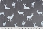 Premier Deer To Me Cuddle-Graphite 58/60 100% Polyester