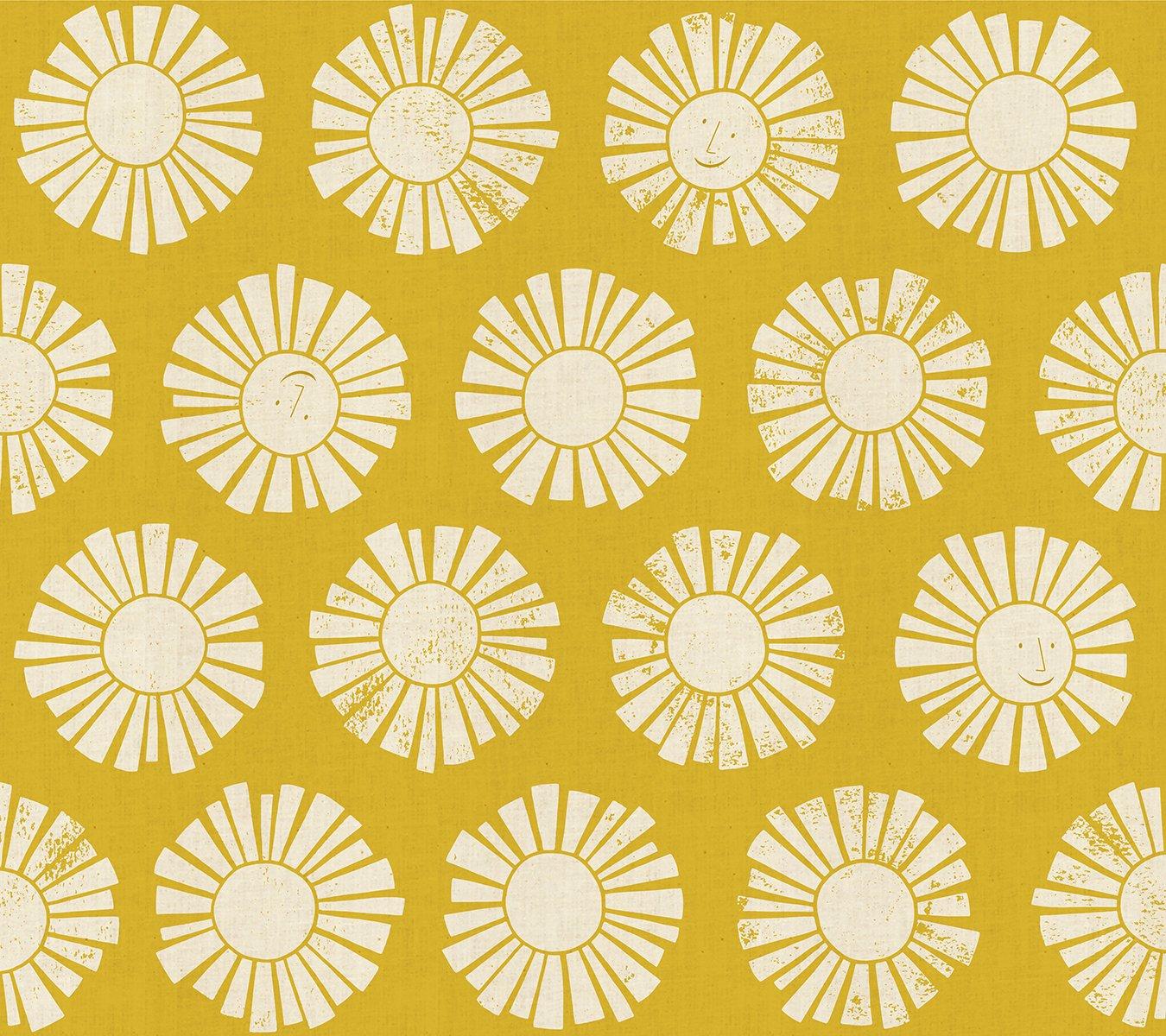 Cotton and Steel Loes Van Oosten By the Seaside Sunshine Golden LV101-GO1U